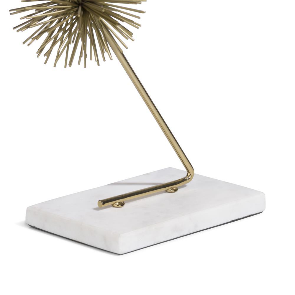 Sculpture abstraite moderne et dorée