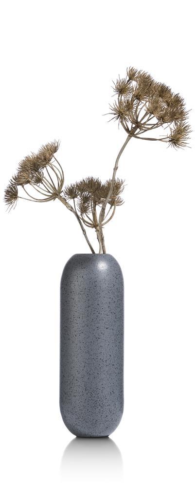 Vase haut et moderne couleur gris