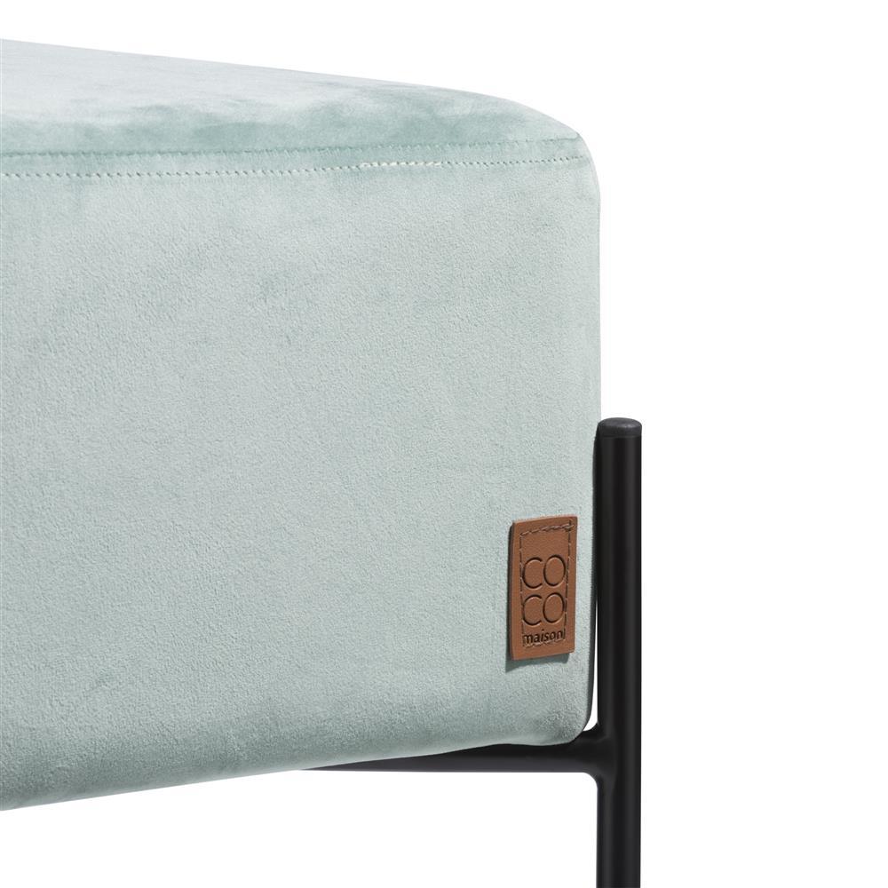 Pouf carré velours couleur menthe