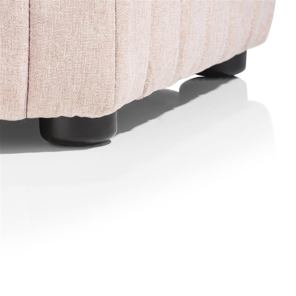 Pouf hexagonale rose pâle
