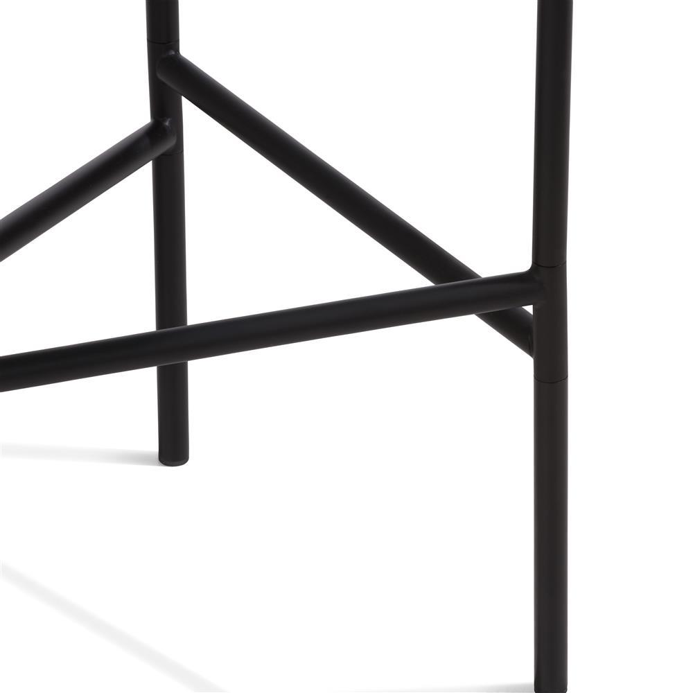 pieds table d'appoint noire en métal