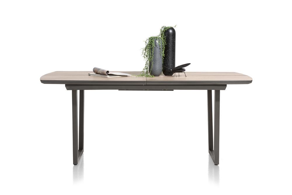 table à rallonge style bois et métal
