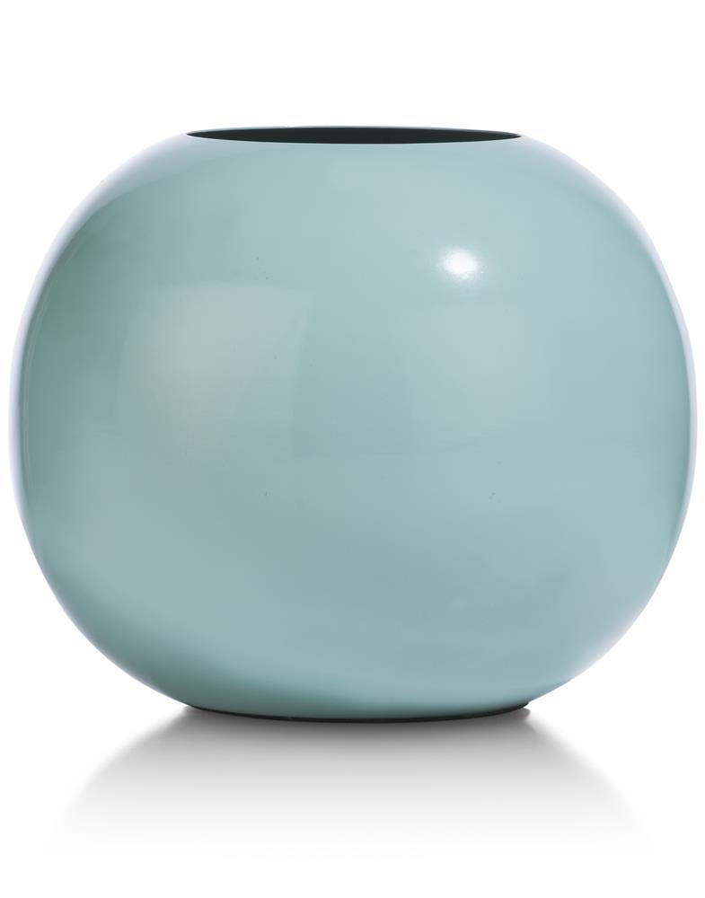 Vase rond bleu menthe