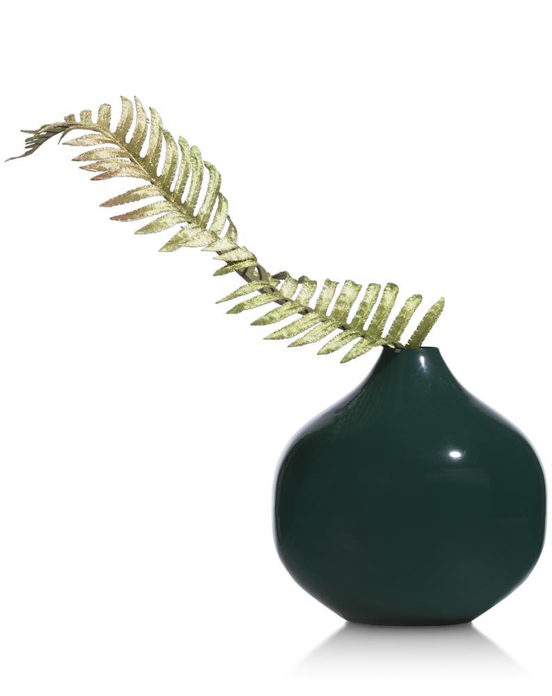 Vase rond et moderne vert canard