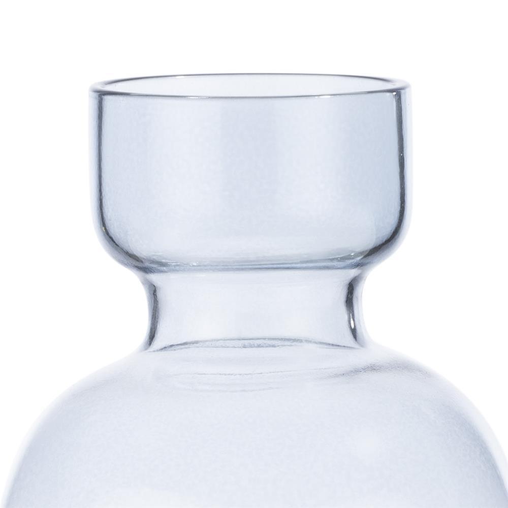 Petit vase coloré en verre bleu