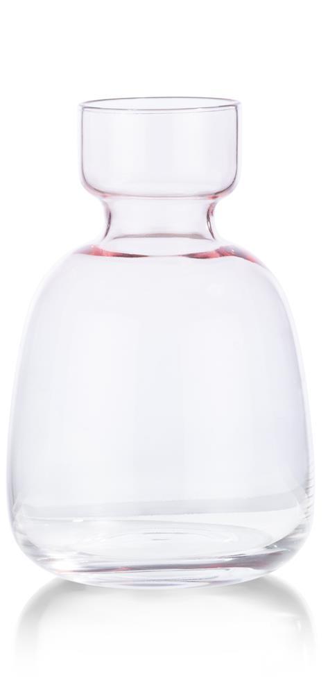 Petit vase coloré en verre rose