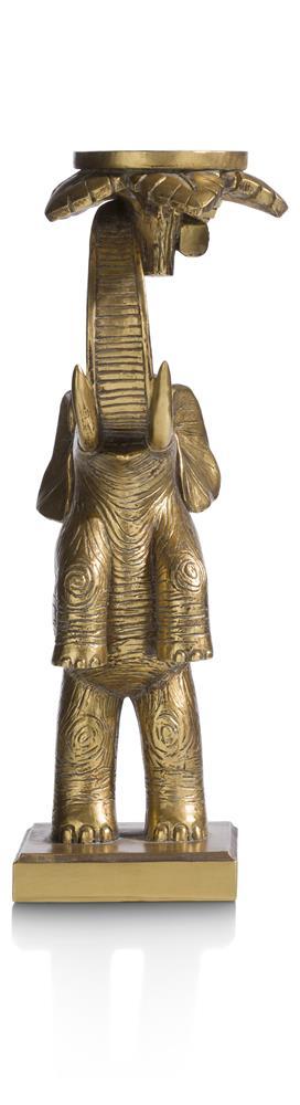 Chandelier éléphant couleur doré