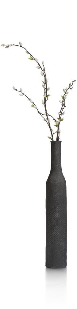 Vase haut et fin de couleur noir