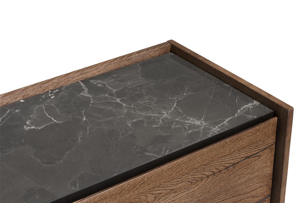 Buffet rétro chic bois et marbre