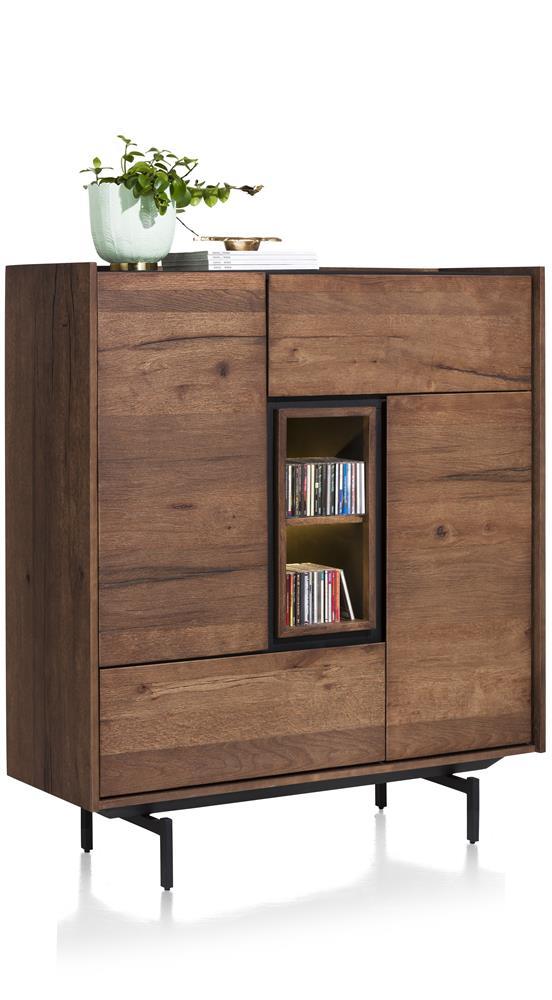 armoire rétro chic bois et marbre
