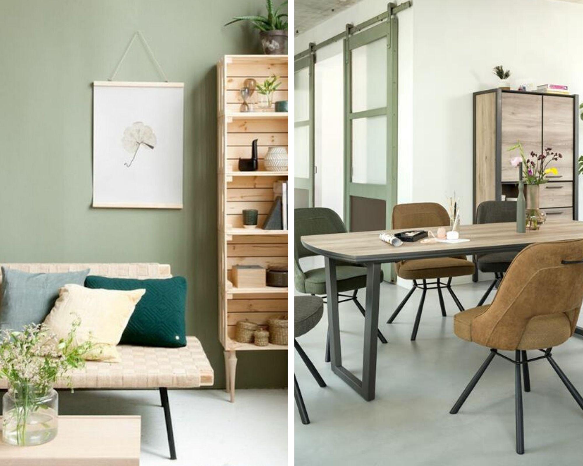ambiance intérieur contemporaine vert amande