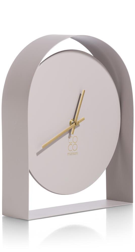 Horloge à poser minimaliste couleur rose poudré