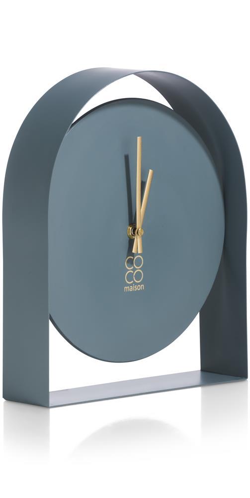 Horloge à poser minimaliste couleur bleu grisonnant