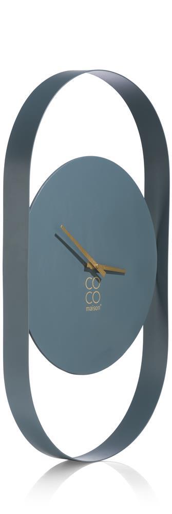 Horloge murale minimaliste couleur bleu grisonnant
