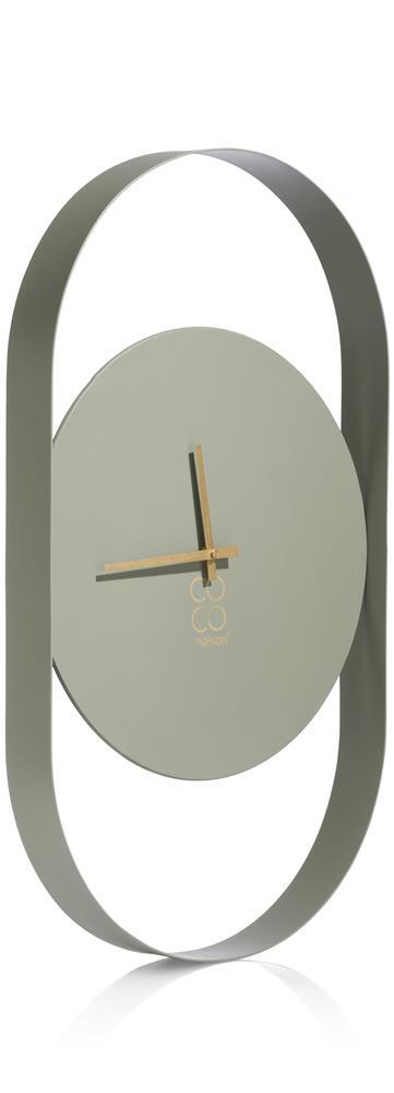 Horloge murale minimaliste couleur vert sauge