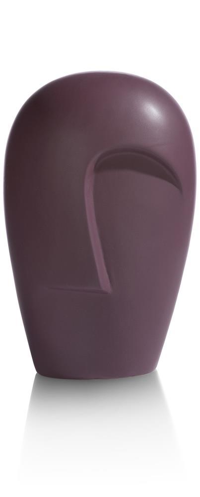 Vase tendance visage abstrait couleur violette