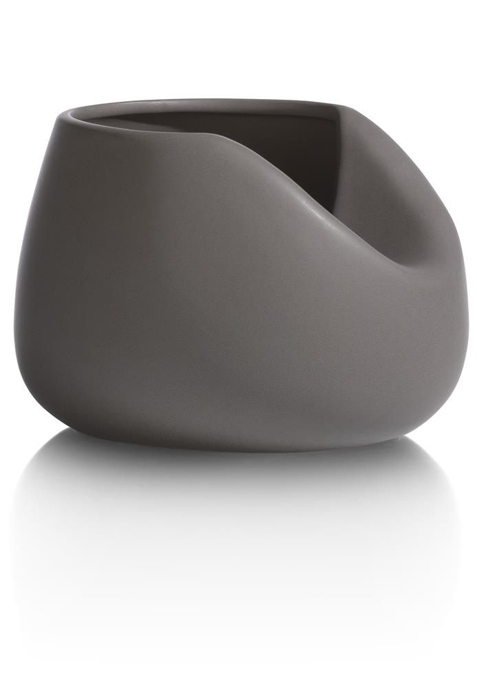 Vase contemporain en céramique grise