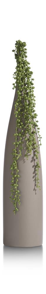 Vase haut et rond style contemporain couleur beige