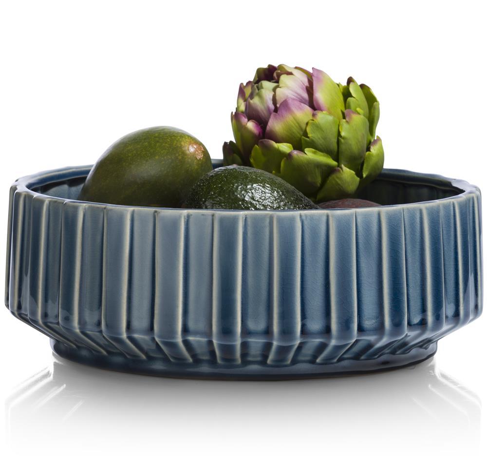 saladier en céramique bleu