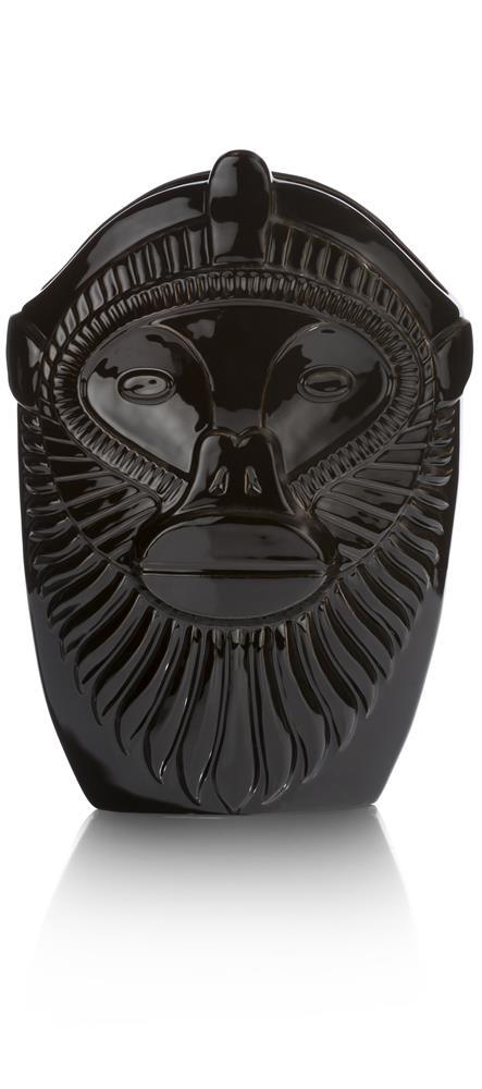 Vase large et noir tête de singe