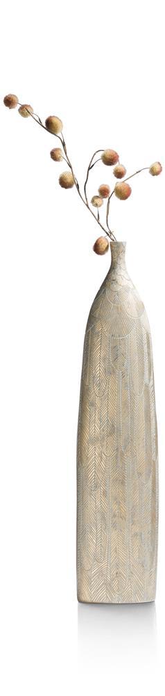 Vase haut et doré en polyrésine