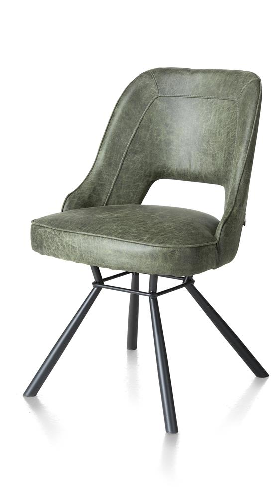 Chaise contemporaine cuir vert