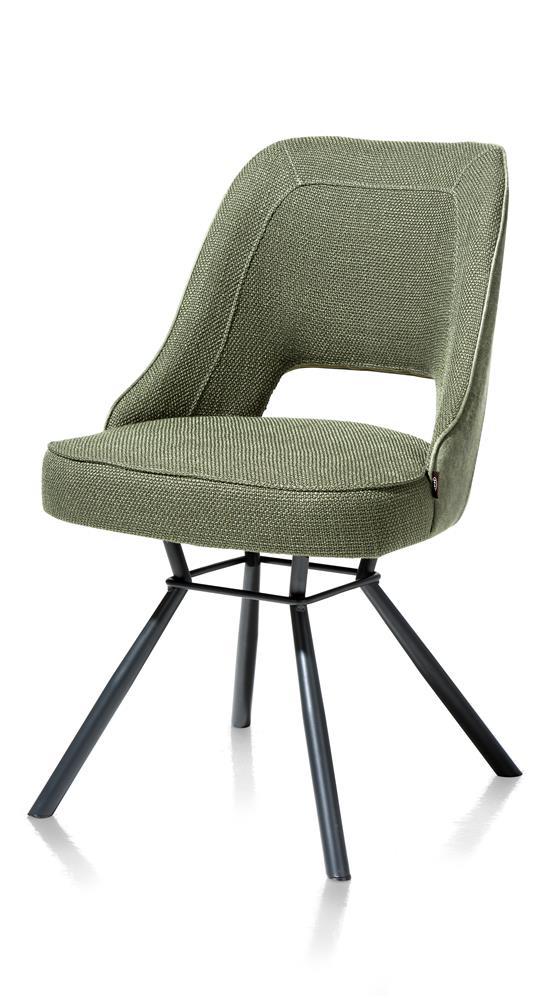 Chaise contemporaine tissu vert