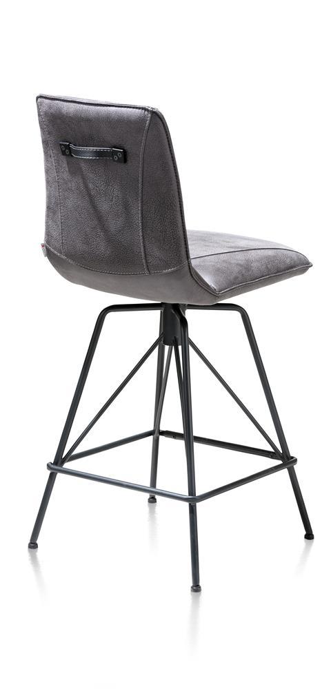 Chaise de bar moderne tissu gris