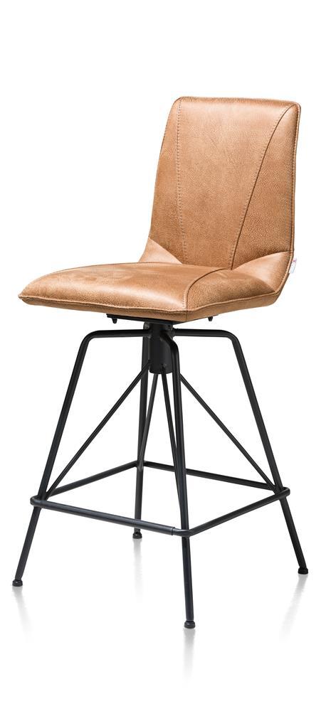 Chaise de bar moderne tissu marron