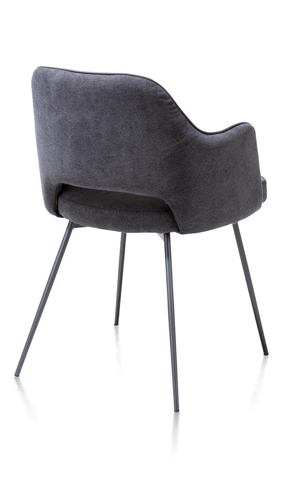 Chaise fauteuil en tissu gris