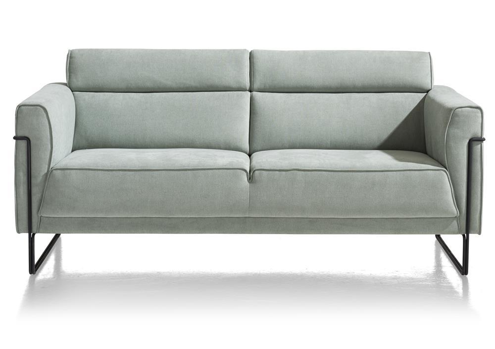 Canapé 2 places en tissu couleur bleu menthe
