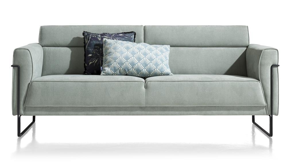Canapé 3 places en tissu couleur bleu menthe