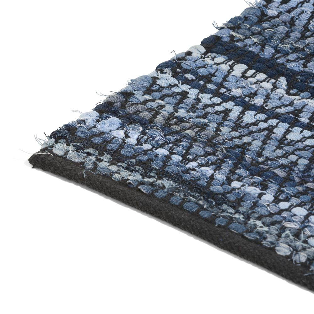Tapis en coton bleu style ethnic chic