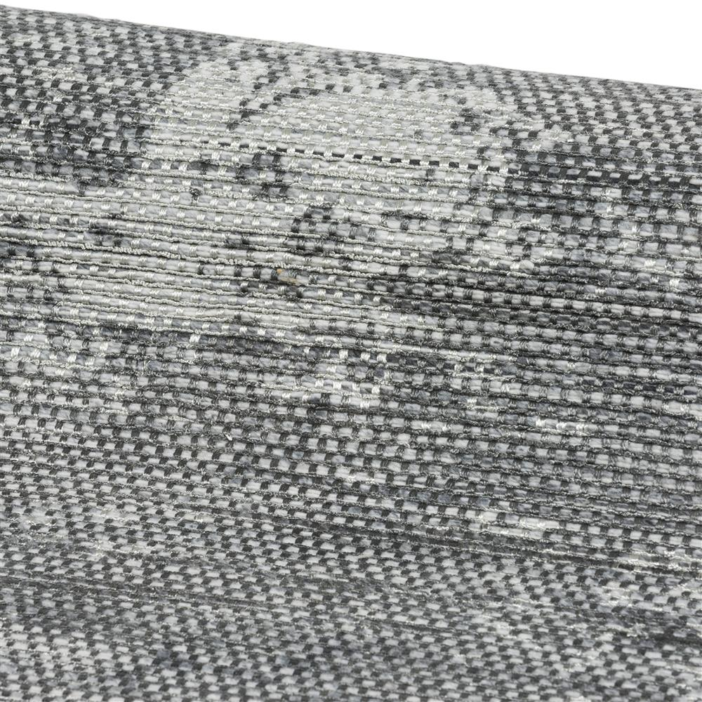 Tapis nuances de gris à franges