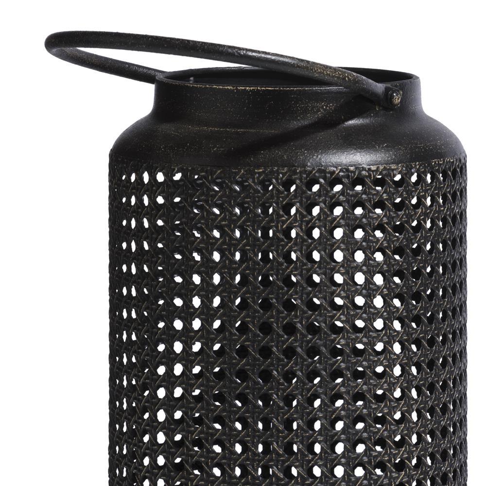 Lanterne métal noir ajourée