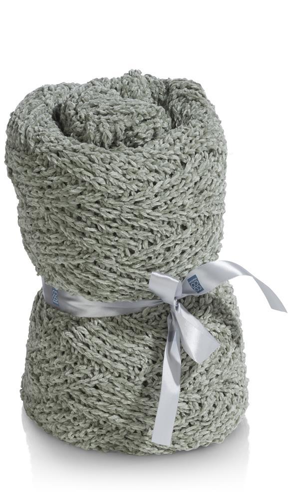 Plaid laine acrylique vert