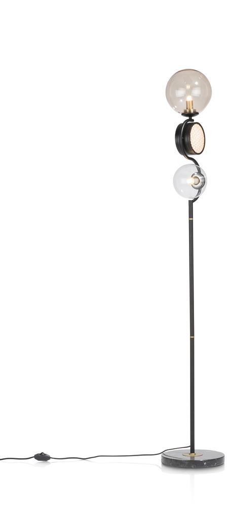Lampadaire métal noir style rétro