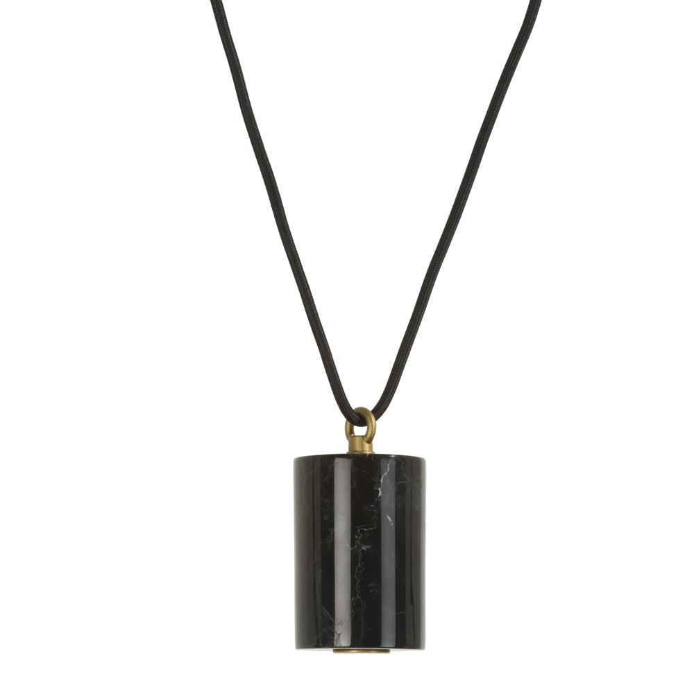 Suspension métal noir style rétro