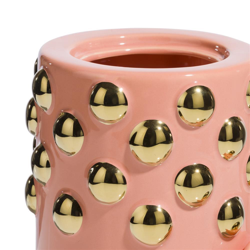 Pot en céramique corail avec couvercle amovible
