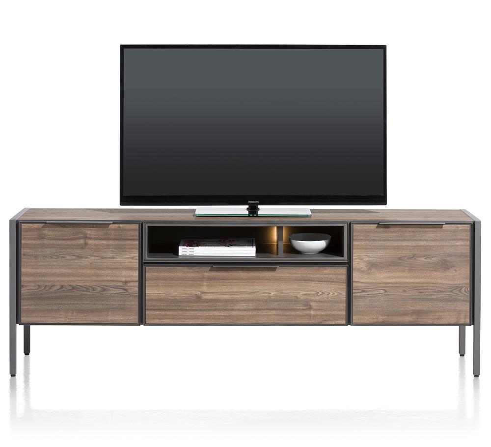 Grand meuble TV 2 portes éclairage LED