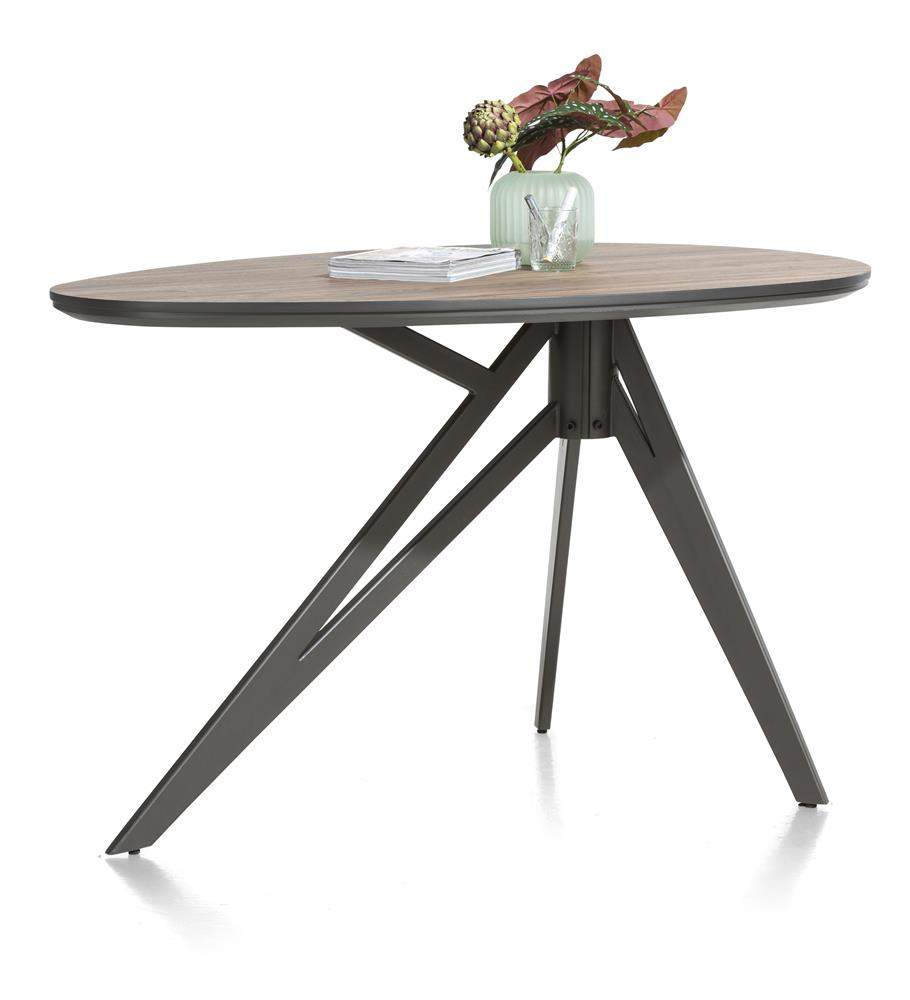 Table de bar arrondie style industrielle