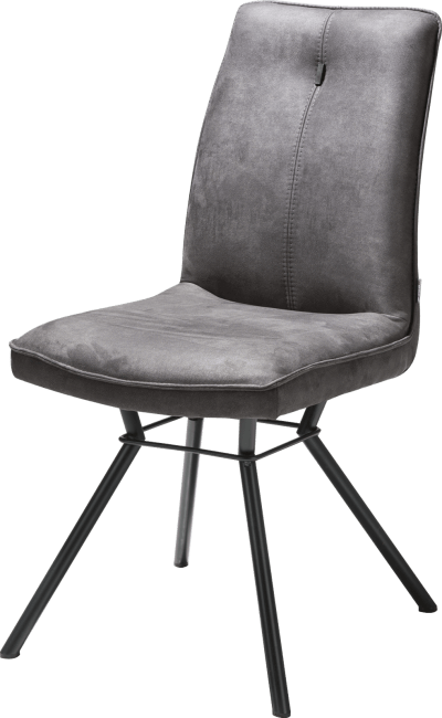 Chaise confortable style scandinave en microfibre gris anthracite