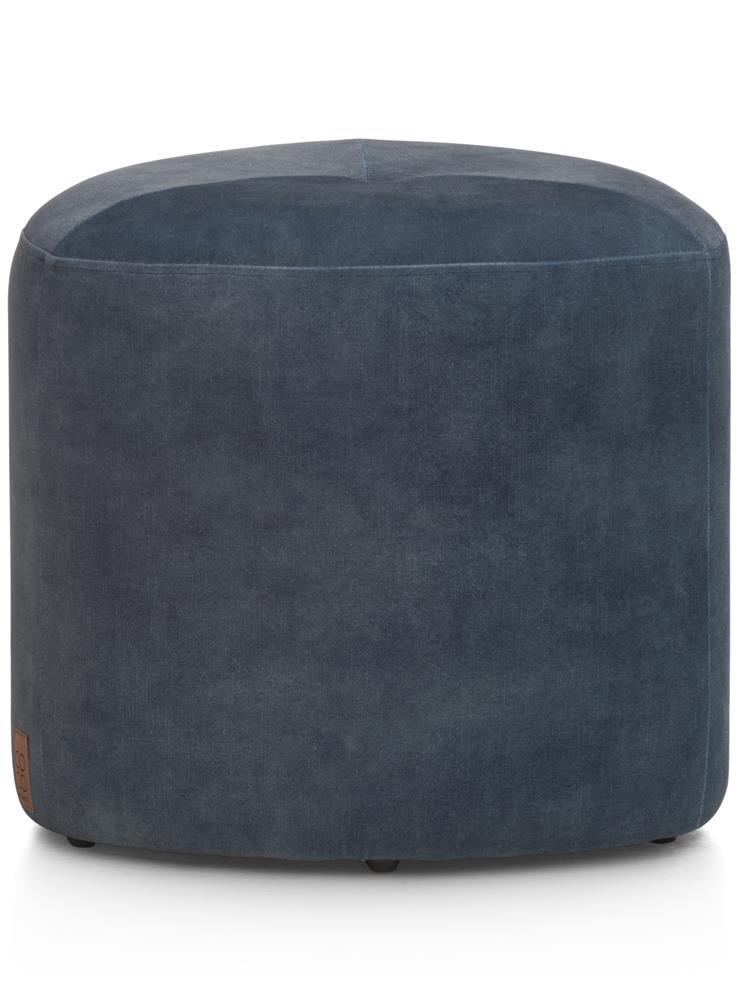 Pouf tendance en tissu bleu
