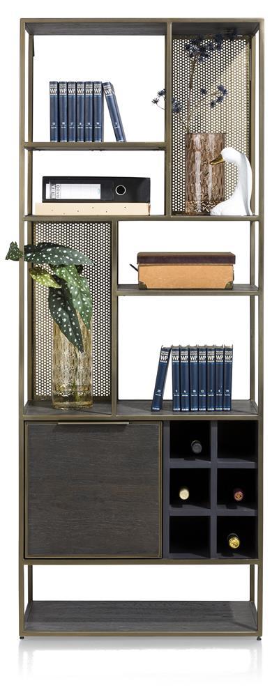 bibliothèque style industriel couleur anthracite