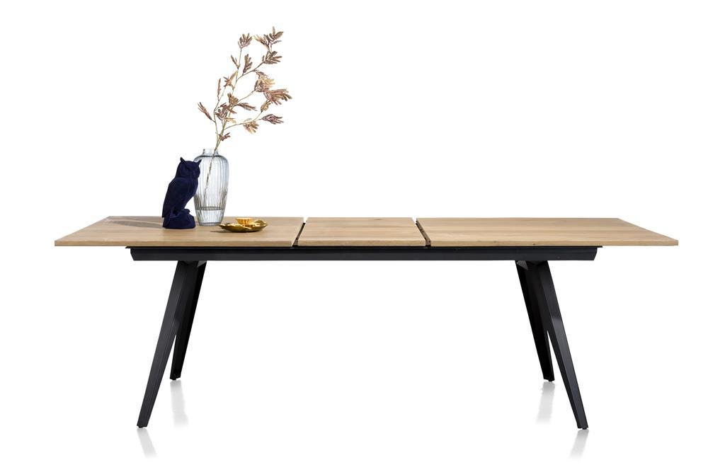 table à rallonge style scandinave bois et métal noir
