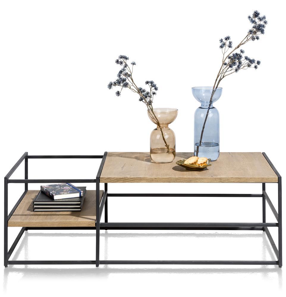 Table basse industrielle bois et métal noir
