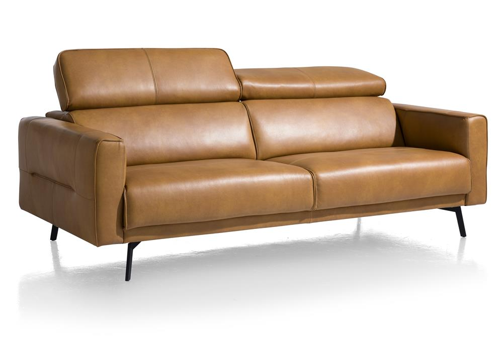 Canapé moderne cuir marron personnalisable