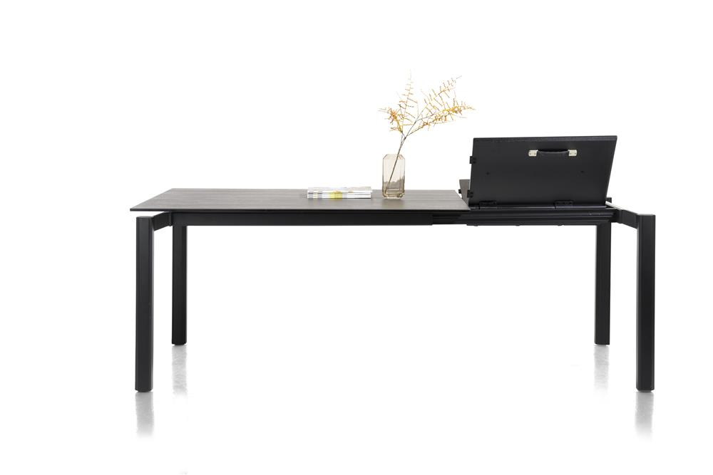 Table à rallonge en céramique gris anthracite
