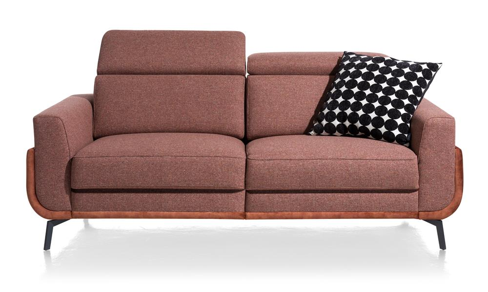 Canapé 2 places en tissu couleur vieux rose