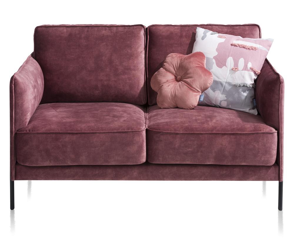 Canapé minimaliste 2 places en tissu rose